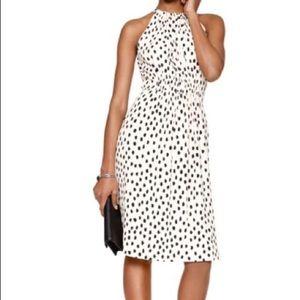 Kate Spade Leopard Blush Pink & Black Midi Dress
